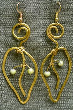 Fanciful Celtic 'Leaf' Earrings