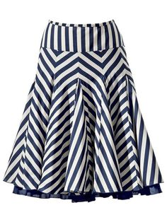 navy and white striped skirt. Very into this geometric take to stripes, and I love the way it hangs!