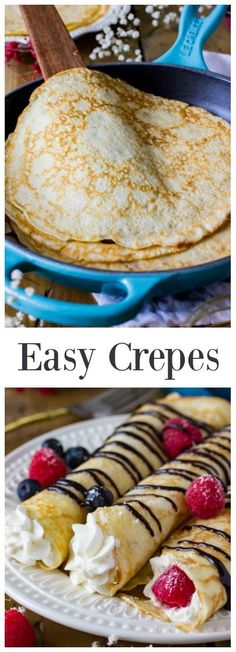A classic Crepes recipe, so easy and a perfect breakfast staple! #breakfast #crepes #recipe via @sugarspunrun