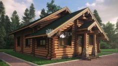 Эко-Тех: проект дома Петро из бревна 7х10 площадью 133 м2