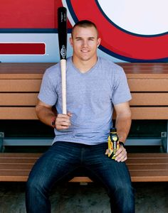 Mike Trout, ANAHEIM Angels - one of the best players in the MLB & THE best looking guy to ever put on a baseball jersey