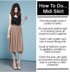 midi skirt -- how to do