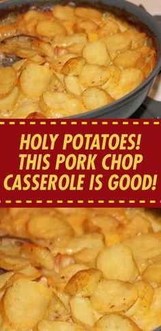 This Pork Chop Casserole Is Good! Ingredients 1 can Campbell's cream of mushroom soup 1 carton Daisy sour cream 6 pork chops Pork Chop Casserole, Dinner Casserole Recipes, Dinner Recipes, Casserole Dishes, Gourmet Recipes, Mexican Food Recipes, Cooking Recipes, Healthy Recipes, Drink Recipes