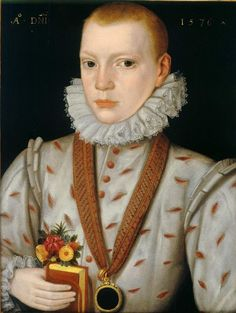 Attributed to The Master of the Countess of Warwick - A Young Boy Holding a Book with Flowers