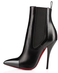The Shoes: Christian Louboutin 'Tuscon' ankle boots, It's not often that it's a boot, rather than a shoe, that makes it to the 'Friday Fix' Fashionable Snow Boots, Stylish Boots, Sexy Boots, Stilettos, High Heels, Best Ankle Boots, Girls Heels, Ladies Shoes, Botas Sexy