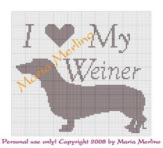 Crochet Living: I Love My Weiner Crochet Graph or Chart!!!