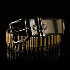 Loaded Bullet Belt Black now featured on Fab.