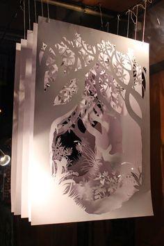Items similar to Paper sculpture made to order handmade paper cutting home decor wall art OOAK original diorama installation contemporary art paper art on Etsy - Paper 😮 Diorama, Handmade Home Decor, Etsy Handmade, Handmade Art, Home Decor Wall Art, Art Plastique, Art Lessons, Book Art, Art Projects