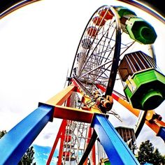 """Discovered by Dan Rose, """"#ferriswheel ultimate #kidsfun so much fun to be had at an amusement park. Denver's best amusement park."""" at Elitch Gardens, Denver, Colorado"""