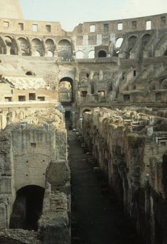 Colosseum - Interior - Rome.  I've been here!  ......archaeology & prehistoric