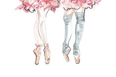 Ballerina inspired illustration | Ballet shoes and tutus