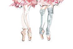 Ballerina+inspired+illustration (1000×667)