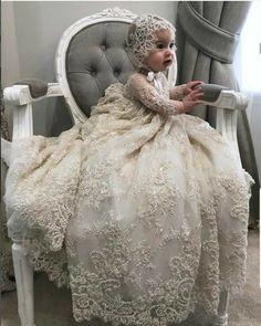 Baby Christening Dress, Girls Baptism Dress, Baby Girl Baptism, Baptism Outfit, Baptism Gown, Baby Gown, Baby Girls, White Baptism Dress, White Baby Dress