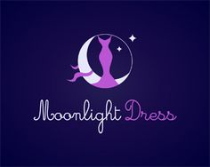 Moonlight Dress Logo design - Great logo for fashion
