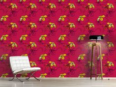 Design #Tapete Orchidee Pink