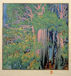 Singing Woods   Artist Gustave Baumann  Year 1926   Technique color woodcut
