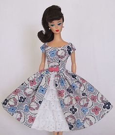 Garden-Party-Vintage-Reproduction-Repro-Barbie-Doll-Dress-Clothes-Fashions