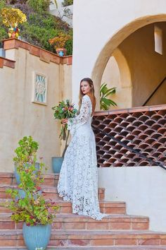 "Say ""I do"" to bell sleeves and crochet lace."