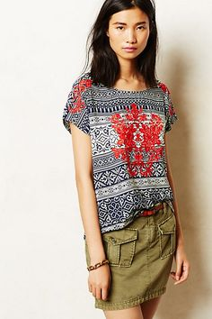 Embroidered Natal Tee #anthropologie