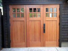 This amazing blue garage door can be a very inspiring and superior idea Barn Door Garage, Carriage House Garage Doors, Garage Door Hardware, Garage Door Styles, Garage Room, Carriage Doors, Garage Door Design, Garage Exterior, Garage Door Makeover