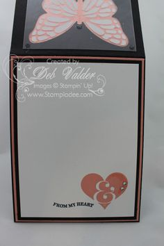 www.stampladee.com Butterflies Thinlit Windows Card with Deb Valder