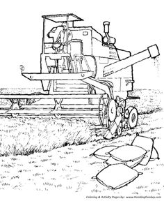 Farm Equipment Coloring Pages Tractor Coloring Pages, Coloring Pages To Print, Free Printable Coloring Pages, Colouring Pages, Adult Coloring Pages, Coloring Pages For Kids, Coloring Sheets, Coloring Books, Tank Drawing