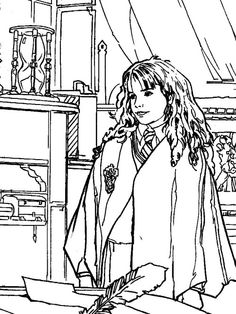 Beautiful Woman Indoors Coloring Pages