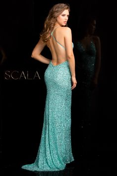 #SCALA Spring 2017 style 47551 Tiffany.  #scalausa #spring2017 #prom #promdress #prom2k17 #prom2017 #gown #sequindress #eveningwear #fancy #pageant #fancy #dress #longdress #fashion #beautiful #redcarpet #emmys #oscars #goldenglobes #celebrity #sequins #sparkle www.scalausa.com
