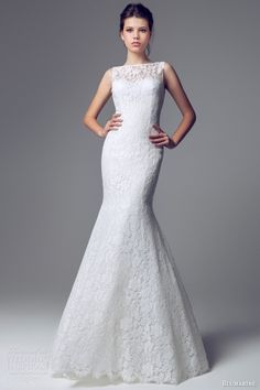 blumarine sposa 2014 sleeveles lace mermaid gown bateau neck