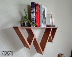 Three Mountains Shelf Triangle Shelves Geometric Shelf Bathroom Shelves Book shelves Storage shelves Reclaimed Wood Furniture (48.00 USD) by AXAhandcrafted