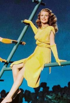 """Rita Hayworth in the very amusing """"Down To Earth"""" ! Hollywood Cinema, Hollywood Fashion, Hollywood Actor, Hollywood Stars, Hollywood Actresses, Classic Hollywood, Old Hollywood, Classic Actresses, Beautiful Actresses"""
