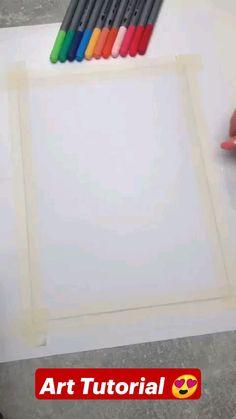 Diy Crafts To Do, Diy Arts And Crafts, Paper Crafts, Diys, Art Drawings Sketches Simple, Stencil Diy, Diy Canvas Art, Art Techniques, Diy Painting