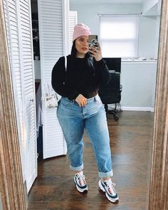 It's chola Barbie 💘😊 Thick Girls Outfits, Curvy Girl Outfits, Retro Outfits, Plus Size Outfits, Fat Girl Fashion, Chubby Fashion, Fashion Outfits, Fashion Fashion, Look Plus Size