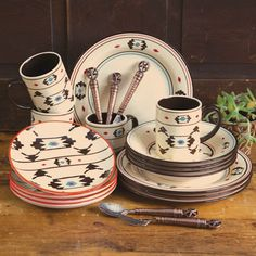 Artesia Native Dinnerware Set & Delectably Yours Artesia Southwest Dinnerware Set by HiEnd Accents ...
