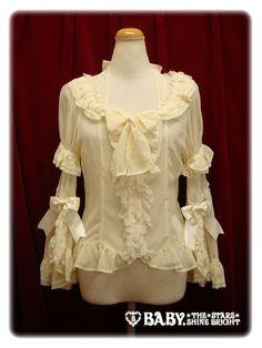 Chiffon Princess Dress Blouse in Ivory