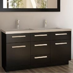 Shop for Design Element Moscony Espresso 60-inch Double Sink Vanity Set. Get free delivery at Overstock.com - Your Online Furniture Outlet Store! Get 5% in rewards with Club O!
