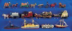 Puppen & Spielzeug Museum: 395 Eleven German Miniature Wooden Vehicles