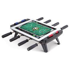 The iPad To Foosball Table Converter - Hammacher Schlemmer