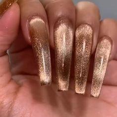 By @riyathai87 Acrylic Nail Designs Classy, Fall Nail Designs, Nails Now, How To Do Nails, Acrylic Nails, Gel Nails, Nail Polish, Gorgeous Nails, Pretty Nails