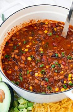 Easy Taco Soup Recipe {Best Ever! Mexican Food Recipes, Soup Recipes, Dinner Recipes, Cooking Recipes, Healthy Recipes, Yummy Recipes, Dinner Ideas, Yummy Food, Easy Taco Soup