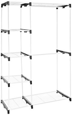 Whitmor Double Rod Closet, WHITE, Home Bedroom Organizer Storage New SetUp # Whitmor