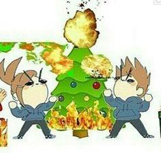 tom and tamara hating christmas Eddsworld Comics, Cute Comics, Funny Comics, List Of Memes, Eddsworld Memes, Tomtord Comic, Gremlins, Pics Art, Stupid Funny Memes