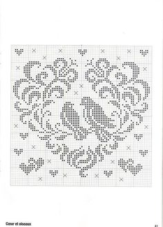 ru / Foto # 26 - Point de croix Collector Avril-Mai 2009 - natalytretyak Plus Filet Crochet Charts, Crochet Cross, Knitting Charts, Cross Stitching, Cross Stitch Embroidery, Embroidery Patterns, Cross Stitch Heart, Cross Stitch Animals, Cross Stitch Designs