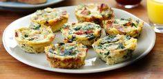 Mini Frittatas with Bacon, Caramelized Onions