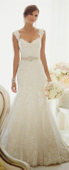 Wonderful Perfect Wedding Dress For The Bride Ideas. Ineffable Perfect Wedding Dress For The Bride Ideas. Dream Wedding Dresses, Wedding Gowns, Lace Wedding, Wedding Beauty, Trendy Wedding, Elegant Wedding, Diy Wedding, Wedding Bouquets, Rustic Wedding