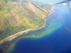 Manado, north sulawesi, indonesia, view from the sky
