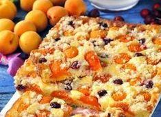 Ingredience: jogurt bílý 2 kelímky, mouka pšeničná polohrubá 2 hrnky, cukr 1 hrnek, vejce 2 kusy, kypřící prášek do pečiva, Hera 5 lžic (rozpuštěný ), ovoce 1 kilogram (podle sezony), tuk (na vymazání), mouka pšeničná hrubá (na vysypání), Hera 160 gramů, cukr 160 gramů, mouka pšeničná hrubá 240 gramů, cukr vanilkový 4 balíčky.