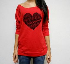 MANY COLORS Valentines Day Off Shoulder by StrongGirlClothing