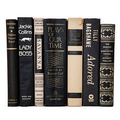 Black and Gold Old Books Vintage Books Office Decor Wedding