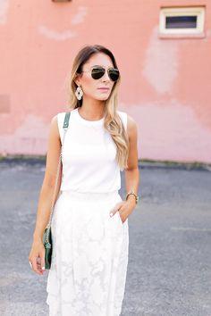 White on White summer look via Megan Kristine Blog